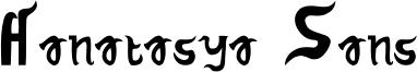 Hanatasya Sans Font