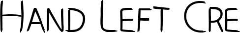 Hand Left Cre Font