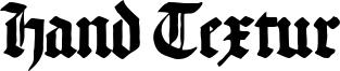 Hand Textur Font