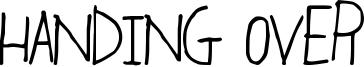Handing Over Font
