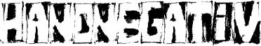 HandNegativ Font