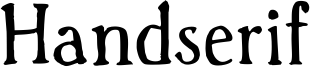 Handserif Font