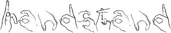 Handstand Font
