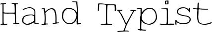 Hand Typist Font