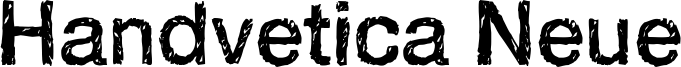 Handvetica Neue Font