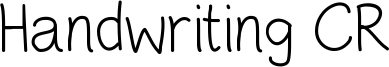 Handwriting CR Font