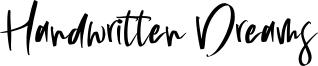 Handwritten Dreams Font