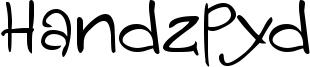 Handzpyd Font