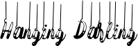 Hanging Darling Font
