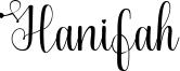Hanifah Font