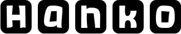 Hanko Font