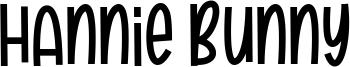 Hannie Bunny Font