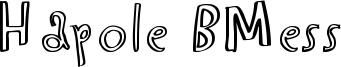 Hapole BMess Font