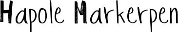 Hapole Markerpen Font