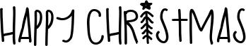 Happy Christmas Font