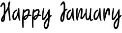 Happy January Font