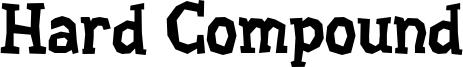 Hard Compound Font