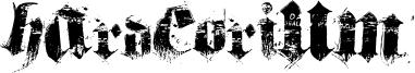 Hardcorium Font