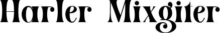 Harler Mixgiter Font