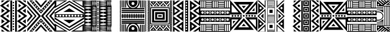 Haus Ethnik Dingbats Font