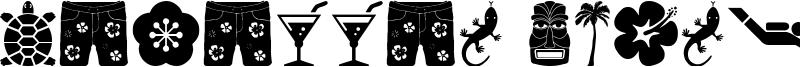 Hawaiian Icons Font