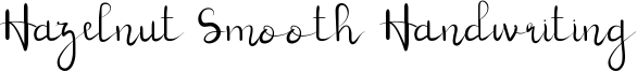 Hazelnut Smooth Handwriting Font