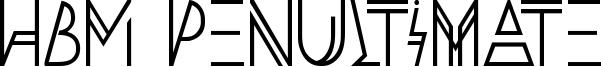 HBM Penultimate Font