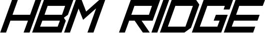 HBM Ridge Font