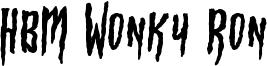 HBM Wonky Ron Font