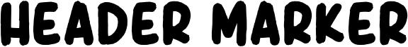 Header Marker Font