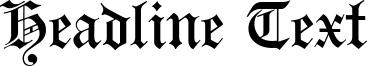 Headline Text Font
