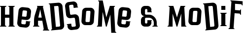 Headsome & Modif Font