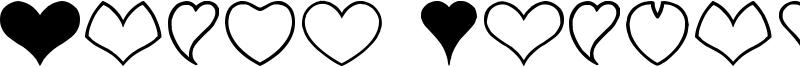Heart Shapes Font