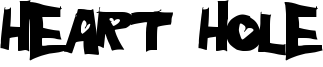 Heart Hole Font