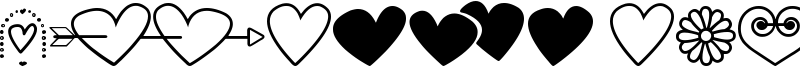 Hearts and flowers for valentines Font