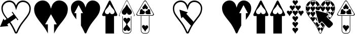 Hearts n Arrows Font
