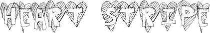 Heart Stripe Font