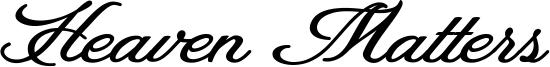 Heaven Matters Font