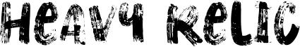 Heavy Relic Font