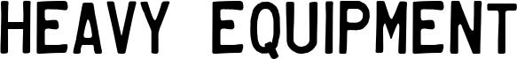 Heavy Equipment Font