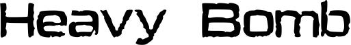 Heavy Bomb Font