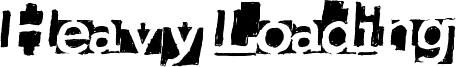 Heavy Loading Font