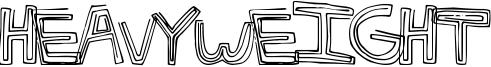 HeavyWeight Font