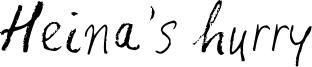 Heina's hurry Font