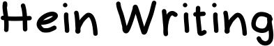 Hein Writing Font
