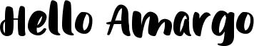 Hello Amargo Font