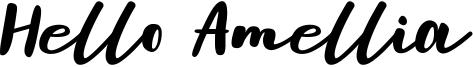 Hello Amellia Font