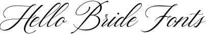 Hello Bride Fonts Font
