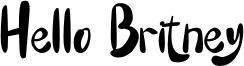 Hello Britney Font
