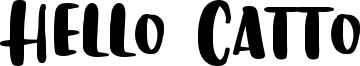 Hello Catto Font